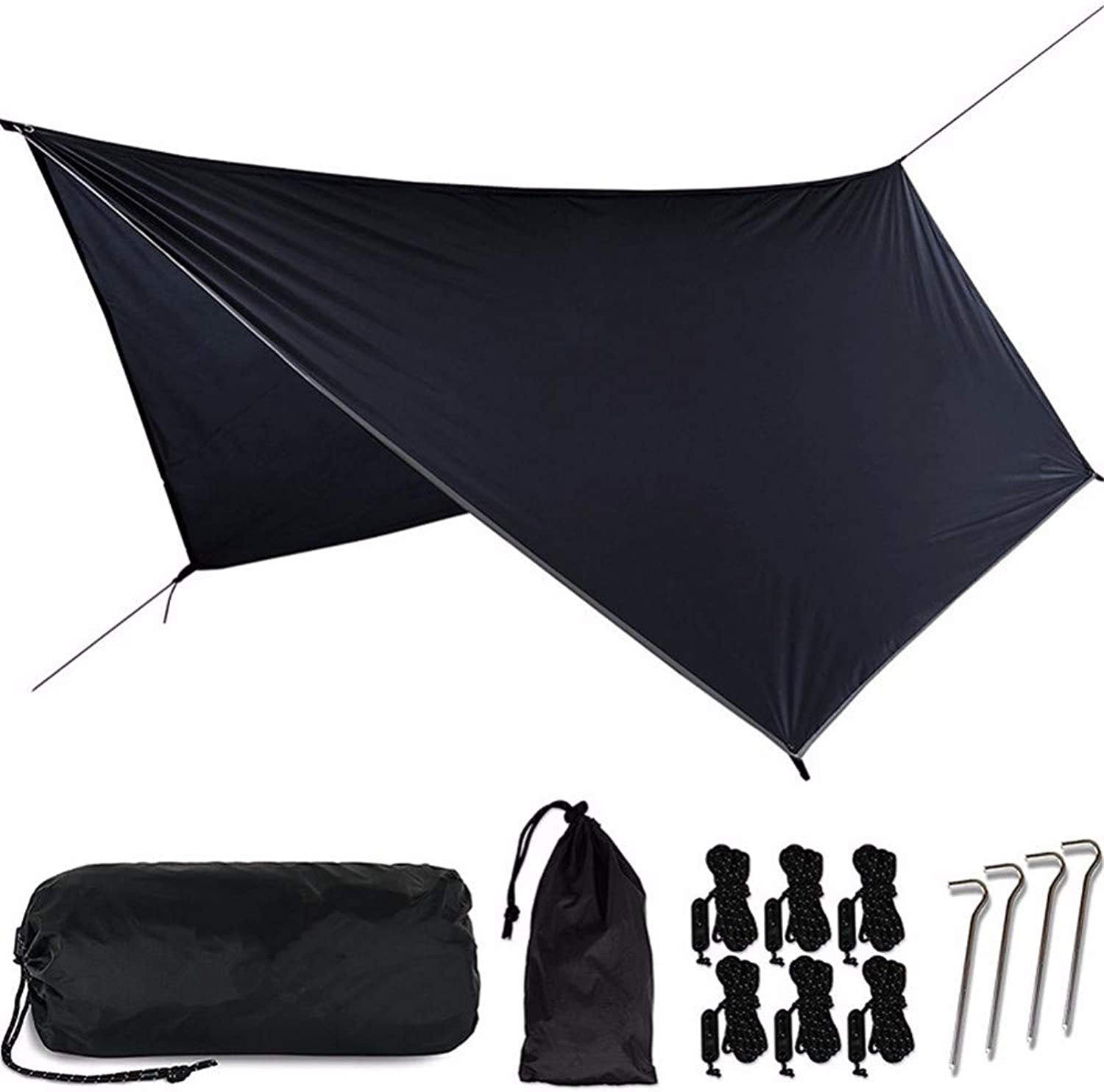 Wu-Hammock Outdoor Multi-Function Canopy Sunscreen Tent Light and Moisture-Proof Mats Hammock Canopy