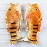NISHIWOD Zapatillas Casa Chanclas Sandalias Moda Mujer Chanclas Unisex Amantes Zapatillas Dama Suave Zuecos Diseño De Pescado Eva Zapatos Planos Tallas Grandes 6.5 Naranja