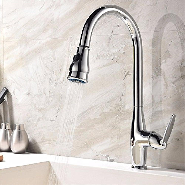 Gyps Faucet Waschtisch-Einhebelmischer Waschtischarmatur BadarmaturPull-down-Küche Wasserhahn Schüssel Waschbecken voll Kupfer Kühlkrper Teleskop Pull-down Wasserhahn Drehung