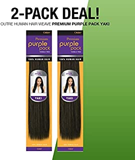 2-PACK DEALS ! Outre Human Hair Weave Premium Purple Pack Yaki (10