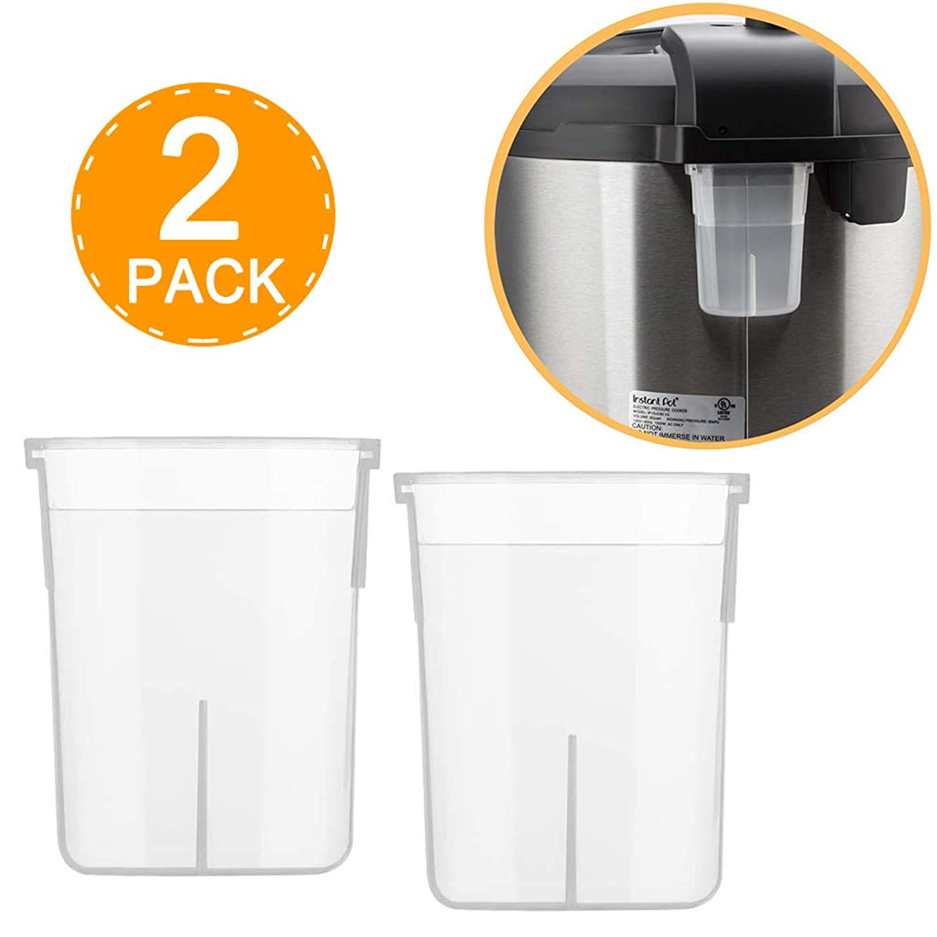 Wish Original Condensation Collector for Instant Pot 5, 6, 8 Quart Duo, Duo Plus, Ultra, Lux, Smart (2 Pack)