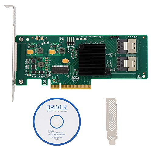 Tarjeta PCIe SATA, Tarjeta controladora PCIe SAS/SATA de 8...