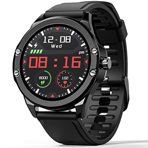 Smart Watch for Android and iOS Bluetooth Smartwatch for Women Men IP68 Waterproof Fitness Activity Tracker with Heart Rate Blood Pressure Sleep Monitor Pedometer Message Reminder
