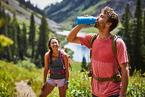 Hydro Flask Water Bottle - Stainless Steel & Vacuum Insulated - Wide Mouth 2.0 with Leak Proof Flex Cap - 32 oz, Sunflower