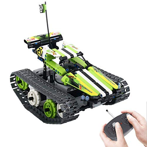 RC Car Engineering for Kids Remote Motorized Control Car Kit Building Blocks Set, Educational Learning Toys Gift for Boys and Girls Age 7-15 Year-Old (Green)
