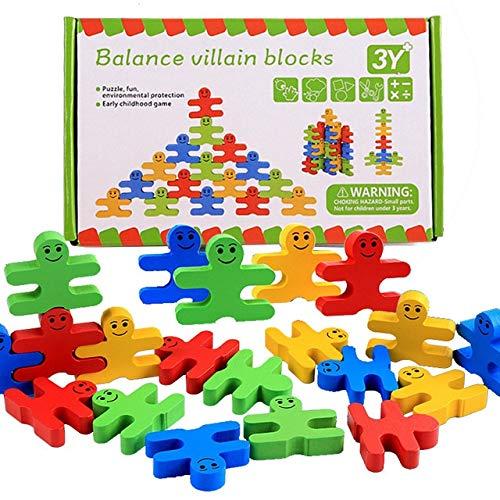 De Colores de Madera de los Bloques Huecos Juega for los niños Equilibrio Pensamiento Juego de Entrenamiento de Madera Pila Kinder Juguete Educativo del bebé (Color : Multicolor)