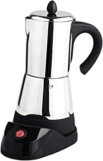 FLAMEER 1x Fabricante de Espresso Eléctrico Accesorios de Fiestas de Acero Inoxidable Duradero - Plata 6 tazas