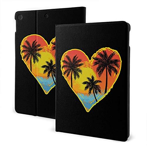 liukaidsfs Beach Palm Tree Heart Slim Lightweight Smart Shell Stand Cover Case for iPad Air3 & pro (10.5-Inch,Auto Wake/Sleep)