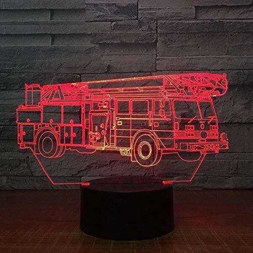 Kran LkW 3D lamp 7 kleuren LED nachtlampje voor kinderen Touch USB-tafel Lampara lamp baby slaap nachtlicht kamer lamp Drop Ship