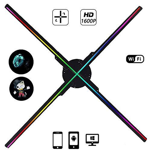 BESTSUGER 2019 Neue 3D-Hologram Advertising Display LED-Ventilator mit 576pcs Perlen und Vier Axil Entwurf Holographic Fan für Shop, Shop, Bar, Casino, Feiertage Veranstaltungen anzeigen