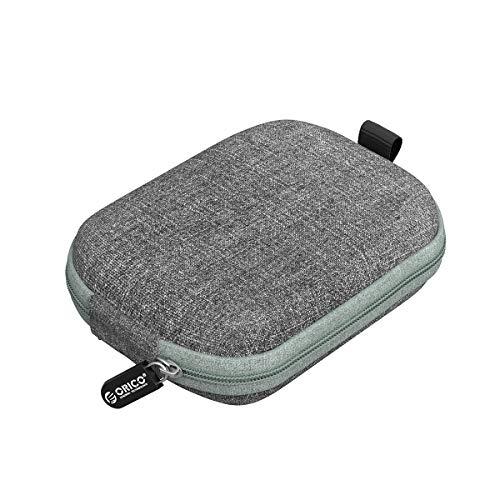 ORICO Festplattentasche Klein Festplatten Case,Stoßfestes externes Festplattenpaket, HDD Tasche case für Portabel SSD,Powerbank, USB Kabel, USB Stick,Außengröße: 102*83*37 mm Innengröße: 90*70*25 mm