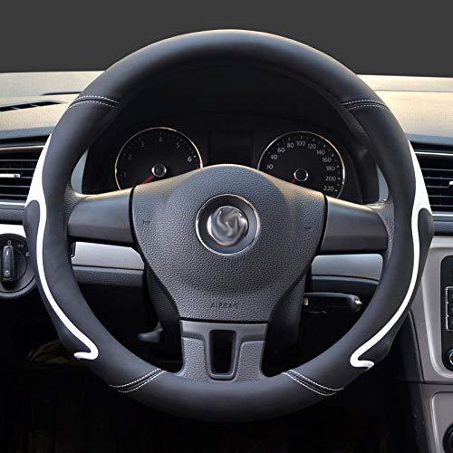 Qwjdsb Für BMW, Lenkradabdeckung 39/40 cm Lenkung Abdeckungen auf Auto Vier Jahreszeiten Universal-Koffer Set Stoß Anti-Rutsch-Farbe