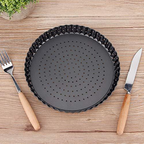 Antaño de hornear no pizza, diseño de la colmena resistencia a la temperatura de la temperatura de la bandeja de pizza redonda de la bandeja de pizza alta de acero altamente pintado y recubrimiento no