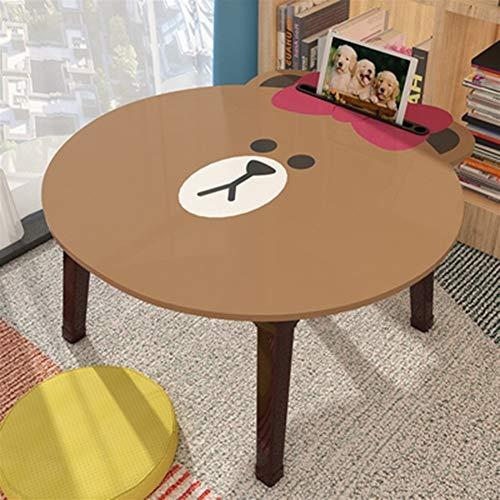 Yuanyuanliu Lit Bureau Assis Petite Table Chambre Bureau Ordinateur Portable Table Pliante Bureau Dessin Animé (Color : G)