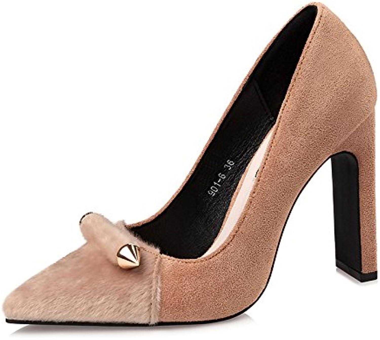 FLYRCX Europäische sexy Spitzen Party Schuhe Metall einfach einfache Flache Flache High Heel Schuhe Damen    Charmantes Design
