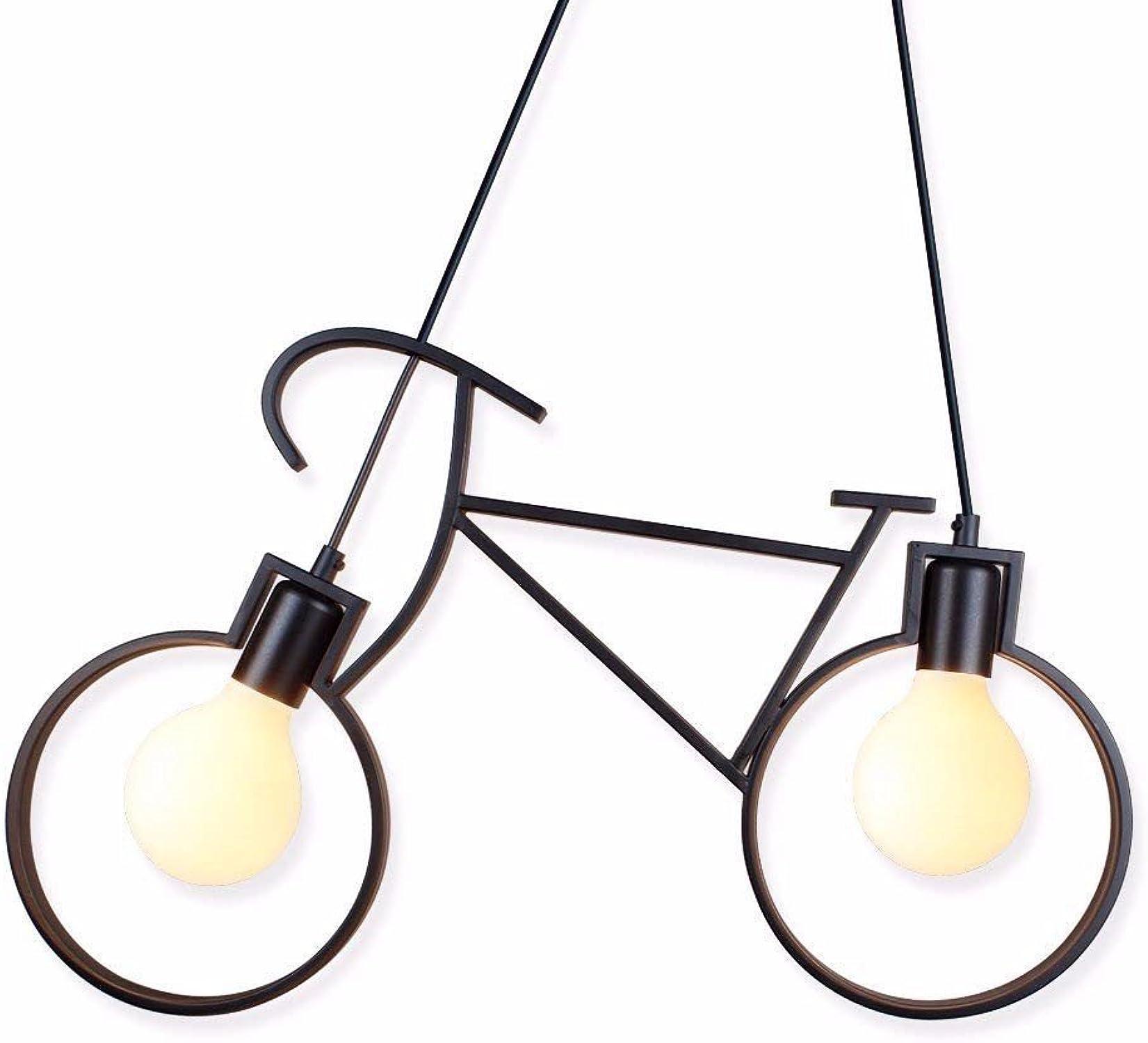 JDFM5 Vélo de fer, noir Lampe vintage Plafond Suspendue Suspension Lustre luminaire Plafonniers Abat-Jour Industriel Lustre