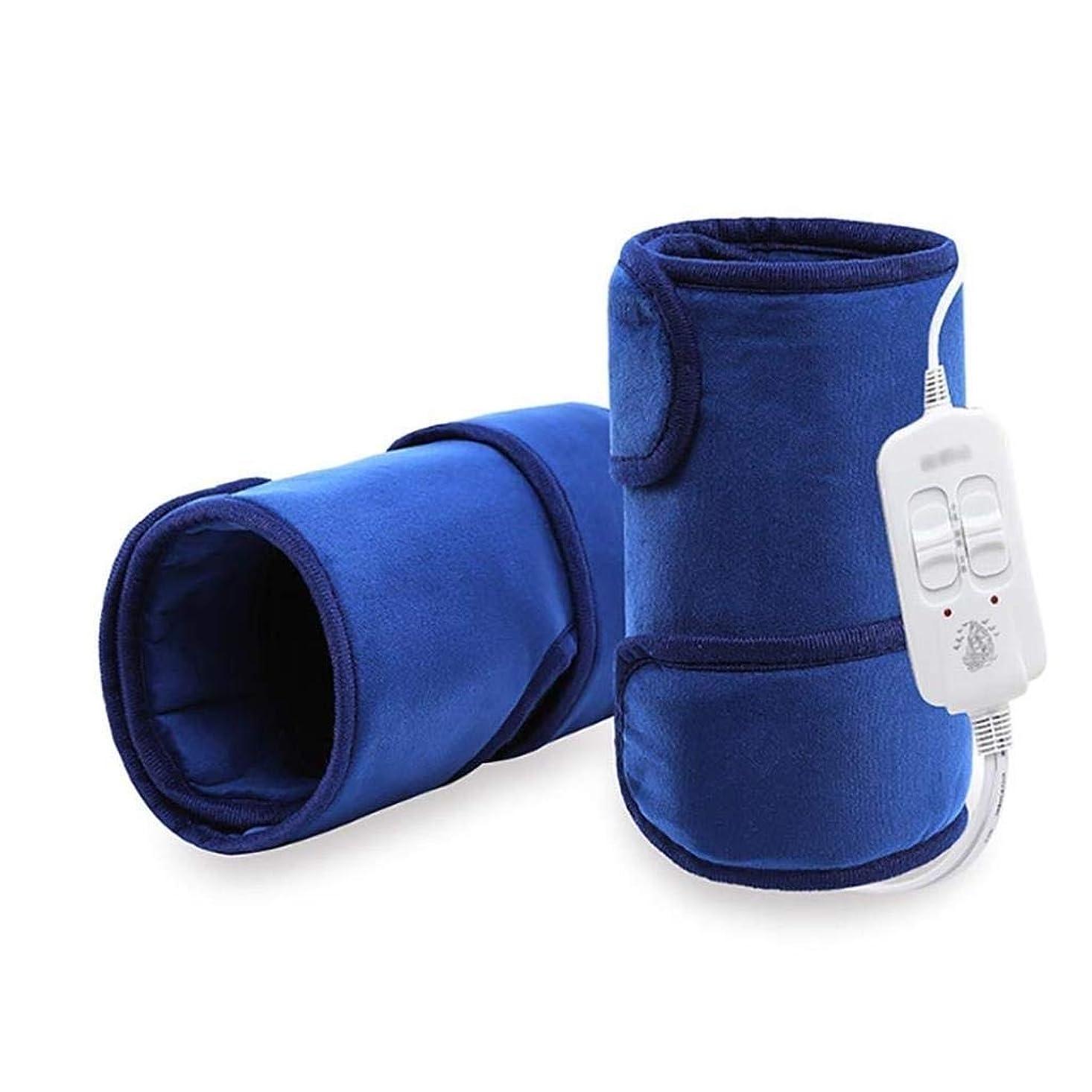 破滅的なボイド定期的にレッグケアマッサージャー、加熱膝パッド、脚Pad/温かい/温湿布/遠赤外線、血液循環を促進 (Color : 青)