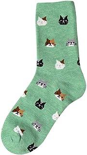 VJGOAL, Moda casual para mujer Animal Gato de dibujos animados Imprimir Calcetines cómodos de algodón transpirable