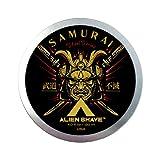 Alien Shave Shaving Soap For Men (Solar Samurai). Powered with Coconut Oil & Glycerin 4 oz (1-Pack)