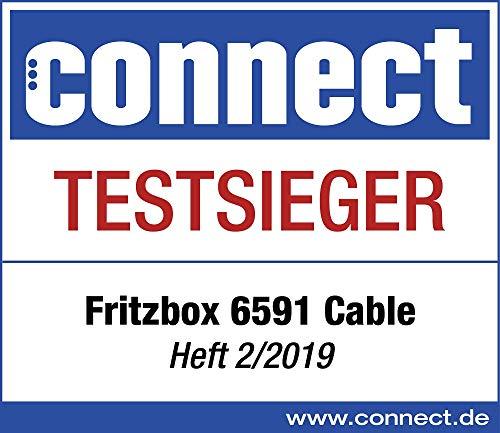 AVM Fritz!Box 6591 Cable WLAN AC + N Router (DOCSIS-3.1-Kabelmodem, Dual-WLAN Ac+N (MU-MIMO) mit 1733 (5 GHz) + 800 Mbit/S (2, 4 GHz), VoIP-Telefonanlage)