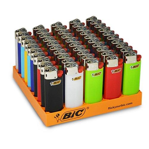 BIC Mini Einweg-Feuerzeuge, Mischpackung von 50Stück