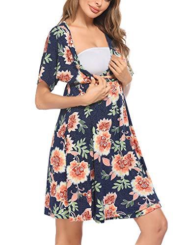 UNibelle Vestido de maternidad para mujer, camisón de maternidad, camisón de lactancia,...