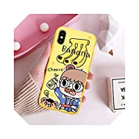 Chnan漫画ストロベリーバナナミルク電話ケースFor iPhoneX XS MAX XR 7 8 6 6sPlus男の子と女の子ソフトマット裏表紙フルーツバッグ-Style 2-For iPhone 7 plus
