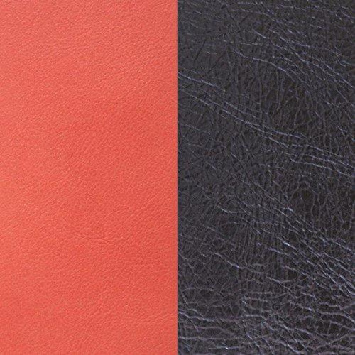 Les Georgettes Damen Lederband Einsatz Orange/Metallblau 25mm ohne Armreif
