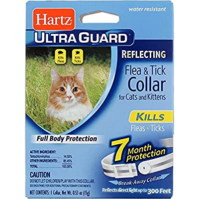 Hartz Ultra Guard Reflecting Flea & Tick Cat Collar 1 Each (Pack of 12)