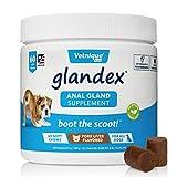 glandex anal pumpkin mastica per cani 60ct masticabile con enzimi digestivi, integratore di fibre probiotiche per cani (fegato di maiale) - di vetnique labs