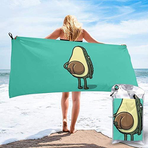 Unique Life Cute Avocado Anime Bath Towel, Gym Towel, Beach Towel,Microfiber Soft Quick Dry,Lightweight