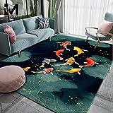 RUGMRZ Alfombras Grandes El patrón de carpa moderno y simple es suave, fácil de limpiar, antideslizante, resistente al desgaste, sala de estar, dormitorio, cocina, pasillo, 120X180CM/3ft 11''X5ft 11''