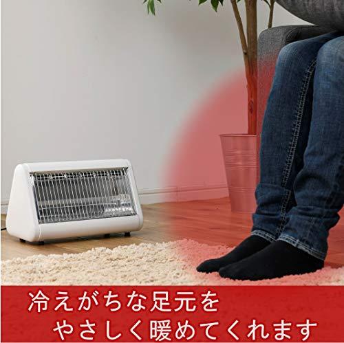[山善]あしもとあったか電気ストーブ(転倒OFFスイッチ)(簡単操作)(400W)ホワイトDS-F041(W)[メーカー保証1年]