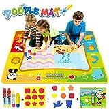 Jenilily Wasser Doodle Malmatte 120x90CM Kinder Wasser Matte Spielzeug Wassermalbuch Alter 2 3 4 5 6...