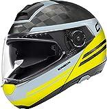 SCHUBERTH C4 Pro Carbon Tempest Amarillo Modulares Casco De Motocicleta Tamano 2XL