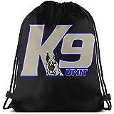 MOTALIN Bolsos de hombro escolares unisex,bolso de viaje con cordón Police K-9...