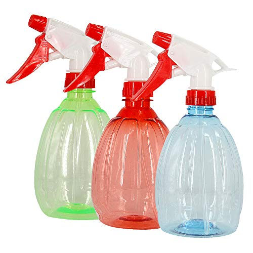 Sprühflaschen 500ml, 3 Stück Sprühflasche Pflanzen Blumen für Garten Kosmetik 500ml für Zuhause , Büro , Garten