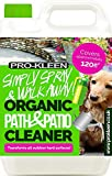 Pro-Kleen Simply Spray and Walk Away Organic Path and Patio Cleaner Concentrate Fluid (5 Litres) Safe for Pets and Children even when Wet Use on Patios, Fencing and Decking (Makes 20 litres)