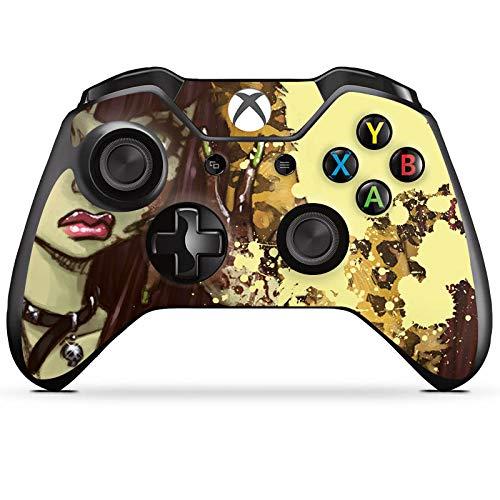 DeinDesign Skin kompatibel mit Microsoft Xbox One Controller Aufkleber Folie Sticker Comic Leo Girl