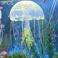 KANEED 水族館魚タンク風景 3 PCS水族館の記事装飾シリコーンシミュレーション蛍光サッカークラゲ、サイズ:3.5 * 11センチメートル (色 : ピンク)