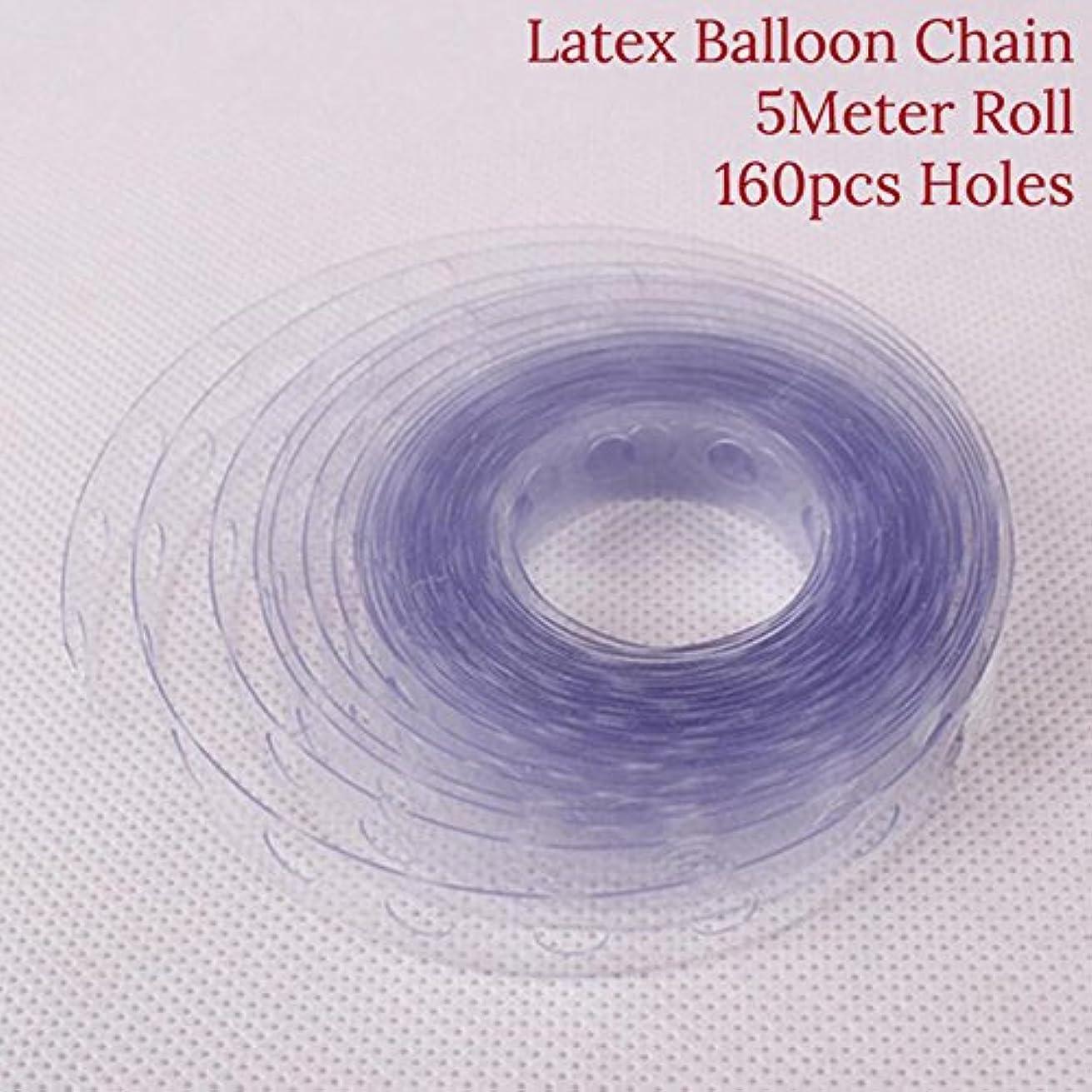 5M/roll Wedding Decor Helium Latex Balloon Transparent PVC Rubber Chain Air Balloon Arch Chain Birhday Party Supplies DIY