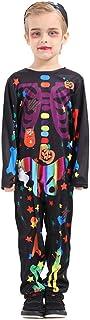 FFFish Halloween Skeleton Costumes for Kids Cosplay Bodysuit (M)