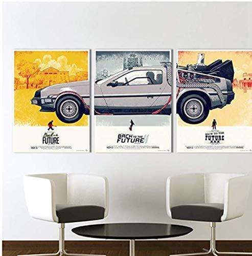 Ling88 Poster E Stampe Decorative,Poster di Film su Tela, Ritorno al Futuro Phantom City Pittura...