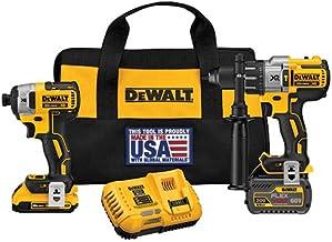 DEWALT FLEXVOLT 60V MAX Cordless Drill Combo Kit, Hammer Drill & Impact Driver (DCK299D1T1)