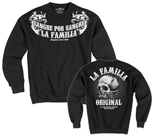 """LA Familia ORIGINAL. """"Double"""" Herren Sweat Shirt SCHWARZ (XL)"""