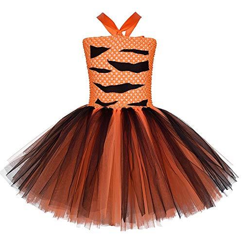 Vestidos de dibujos animados para nias, vestidos de tigre para nios, disfraces de Halloween, disfraces de rendimiento