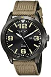 Seiko SNE331 - Reloj para Hombres, Correa de Tela Color Verde