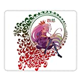 Gaming Mouse Pad Shiro No Game No Life Non-Slip Rubber Base Mouse Pads for Computers Laptop Office 12.01'X9.84'X0.02' Inch