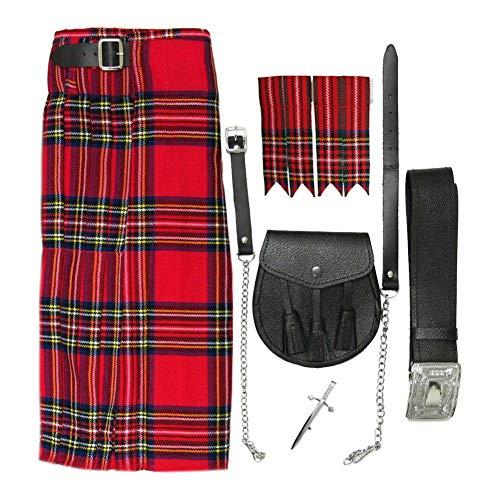 Tartanista - Ensemble kilt 5 pièces Honour Of Scotland - homme - Royal Stewart - Tour de taille 107cm longueur 61cm