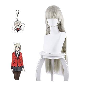 Compulsive Gambler Midari Ikishima Wig Anime Cosplay Prop Wig Gift Kakegurui